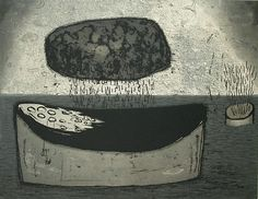 Akiko Taniguchi. Fountainhead, 2002. Etching, photo-etching, chine colle. Edition of 20. 13-1/42 x 17-1/2 inches.