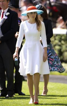 Princess Beatrice sported an elegant white dress from Seraphina.