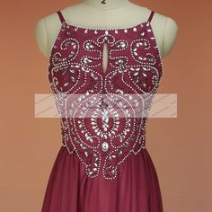 Classic Cheap Burgundy Long Prom Dress by AmyFashionDress on Etsy