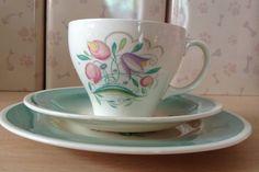 Susie Cooper Trio/ Pretty/Floral/1950s. by MerryLegsandTiptoes