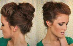 The Freckled Fox: Hair Tutorial: The Bouffant Bun