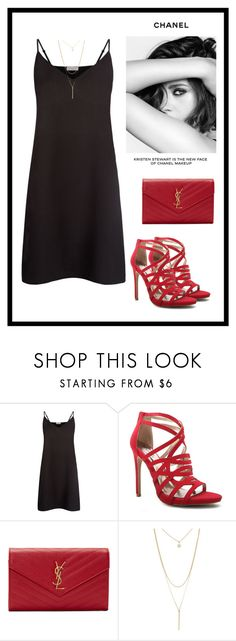 """Bez naslova #76"" by armina-saric ❤ liked on Polyvore featuring Sandro, Qupid, Yves Saint Laurent, Forever 21 and Chanel"