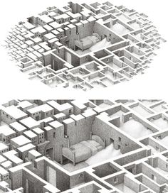 Awesome drawings by Canadian illustrator Matthew Borett. Matthew creates these amazing negative space pictures using 005 Pigma Micron pens. via Designcollector Matthew Borett's website Isometric Art, Space Illustration, Grid Design, Design Art, Architecture Drawings, Art Graphique, Negative Space, Cartography, Cool Drawings