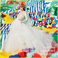 Lydia Hearst Models Bridal Looks for 'Martha Stewart Weddings'