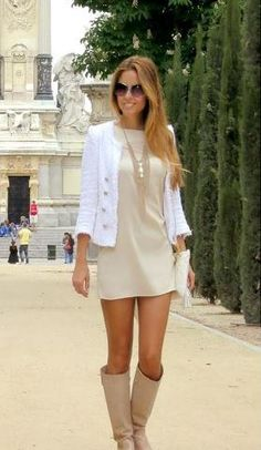 Zara blazer l Forever New dress and necklace l Oakley sunglasses l Edox watch l Daniele Cicatelli flat leather boots l Cross Body white leather bag Passion For Fashion, Love Fashion, Fashion Beauty, Men Fashion, Autumn Fashion, Style Fashion, Forever New Dress, Vestido Dress, Style Personnel