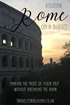 Visiting Rome on a budget - Travel for a Living. , Visiting Rome on a budget, Italy Travel Tips, Rome Travel, Budget Travel, Travel Europe, Travelling Europe, Travel Packing, Traveling, Zoo Park, Europe Destinations