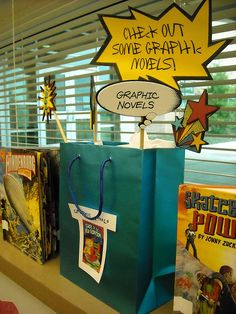 Think graphic novels are for kids? Think again!  Some of the classics & modern fiction have been turned into graphic novels for *teens* plus there are some original stories as well!  Come see what we have on display...