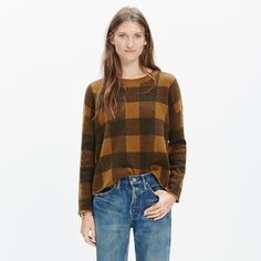 Inkcheck Plaid Sweater : pullovers   Madewell