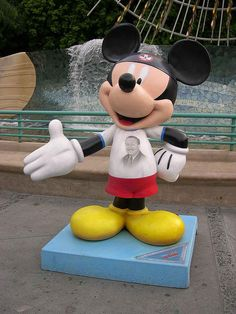 """#74 """"I Speak for Mickey and Mickey Speaks for Me"""" By  Wayne Allwine and Russi Taylor - Disney Legend.  $11,000. for Elizabeth Glaser Pediatric AIDS Foundation"""
