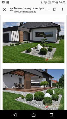 House Outside Design, Front Porch Design, Small Yard Landscaping, Modern Landscaping, Modern Fence Design, Home Entrance Decor, Outdoor Patio Designs, Home Building Design, Facade House