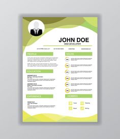 Curriculum Vitae Template Free, Powerpoint Template Free, Resume Template Free, Letterhead Design, Media Kit, Creative Resume, Cover Pages, Art School, Web Development