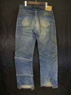 Vintage Jeans, Vintage Outfits, Denim Fashion, Fashion Outfits, Edwin Jeans, Denim Ideas, Japanese Denim, Levi Strauss & Co, Raw Denim