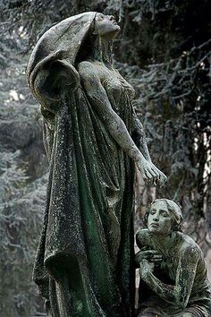 stone monument, turin cemetary, italy [darkface-blessing-by-iskald] Cemetery Angels, Cemetery Statues, Cemetery Art, Recoleta Cemetery, Old Cemeteries, Graveyards, Art Sculpture, Oeuvre D'art, Sculpting