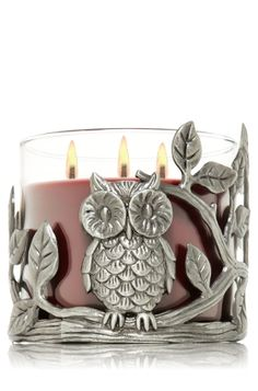 Cast Owl 14.5 oz. 3-Wick Candle Sleeve - Slatkin & Co. - Bath & Body Works