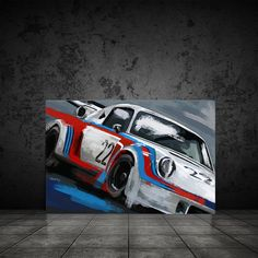 Excited to share this item from my #etsy shop: Porsche Martini Racing art, Automotive art decor, Car art canvas print, race car painting, Car Enthusiast decor, gift for him Martini Racing, Automotive Art, Car Painting, Canvas Art Prints, Giclee Print, Art Decor, Porsche, Museum, Etsy Shop