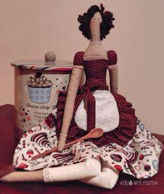Tilda Cozinheira por Drika de Moura Ateliê Arte Positiva