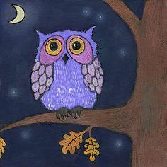 'Purple Owl' by Moonflygirl