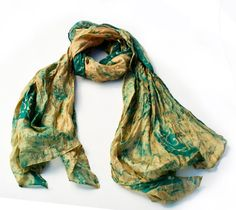 ScarfRecycled Silk woman accesories 60s by tocamade on Etsy, $19.00