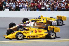 1988 indy 500 - all penske front row.  &...... Devon decides to get married on this day