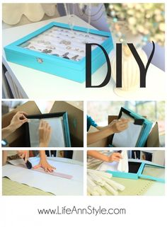 LifeAnnStyle DIY Tiffany & Co inspired Jewelry Box written instruction on how to make a ring jewelry box.