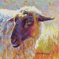 (pastel, 6x6 inches) Click to watch a speed video of Shereen's pastel process! Painting Videos, Painting & Drawing, Sheep Paintings, Pastel Paintings, Fine Art Auctions, Fine Art Gallery, Art Boards, Sculpture Art, Photo Art