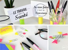 DIY Upcycling Set de Papeterie Néon par The PopCase