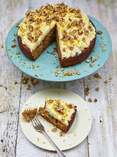 Carrot cake with zesty cream-cheese icing| Jamie Oliver