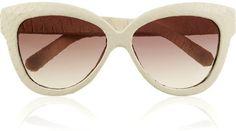 ShopStyle: Linda Farrow Luxe Snakeskin-coated cat eye-frame sunglasses