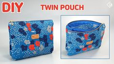 DIY EASY TWIN POUCH / double zipper pouch/ sewing tutorial [Tendersmile Handmade] - YouTube Sewing Tutorials, Sewing Projects, Projects To Try, Creative Arts And Crafts, Bag Patterns To Sew, Sewing Accessories, Zipper Pouch, Bag Making, Couture