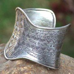 Novica A River Flows Sterling Silver Cuff Bracelet