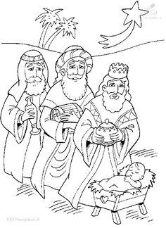 Kleurplaat: drie-koningen-jezus-kleurplaat