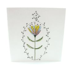 One of my original drawings made into a card. This is a fantastic card as it will fit so many occasions. These cards are printed on stunning cotton