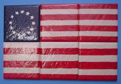 FREE SHIPPING 13 Star Betsy Ross Flag 6 Lg by MountainMoonMosaics, $29.99