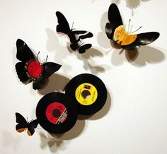 1000 images about vinyl records on pinterest vinyl for Crafts with old records
