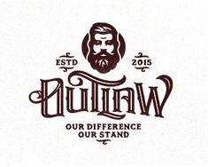 Outlaw Typo Logo, Logo Branding, Typography Letters, Lettering, Beard Logo, Logos Retro, Graffiti, Logo Face, Shops
