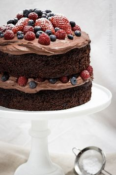 Chocolate Berry Mascarpone Cake