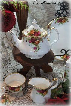 Afternoon Tea with Old Country Roses - my mommy got this as part of her wedding china. I love to just look at it and imagine tea parties