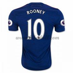 Billiga Fotbollströjor Manchester United 2016-17 Rooney 10 Kortärmad Borta Matchtröja