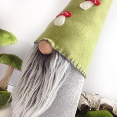 Gnome-sueco escandinavo Tomte Nordic Gnome hecho a mano