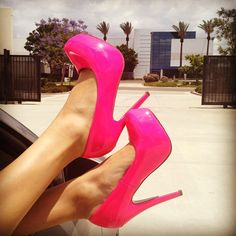 woman's fashion, glamour, high heels, style, design, hot pink, diva