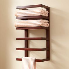 Mahogany Hanging Towel Rack - Towel Holders - Bathroom Accessories - Bathroom