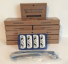 Mens Razors: Dollar Shave Club 6-Blade Cartridges (12) Executive Boxes Plus Razor Handle New! -> BUY IT NOW ONLY: $73.99 on eBay!