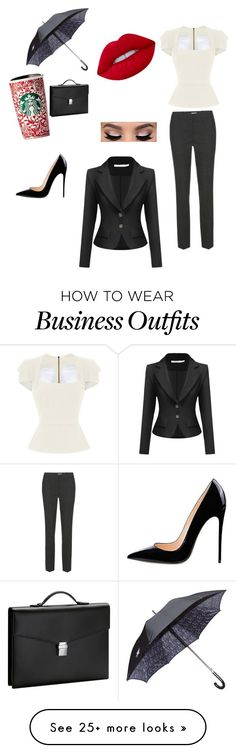 """""""Late for Work"""" by gryffindormuggle on Polyvore featuring Roland Mouret, Gresham Blake, Lime Crime and Montblanc"""