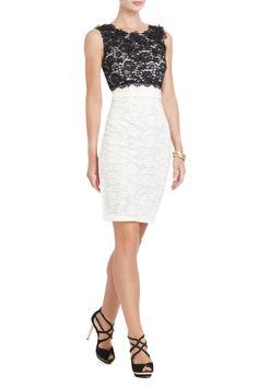 BCBG Black and White Lace Dress. Love!