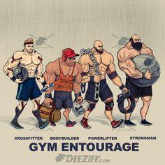 your gym entourage, your workout crew