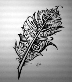 This site contains information about pen tattoo drawings. Feather Art, Feather Tattoos, Feather Design, Feather Drawing, Tribal Feather, Watercolor Feather, Arrow Tattoos, Word Tattoos, Great Tattoos