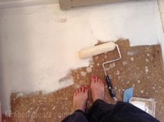 Previous pinner: particle board floor - painted and stenciled