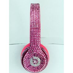 Over the Ear Solo Beats By Dre Headphones Crystal Rose ($599) ❤ liked on Polyvore featuring accessories and beats by dr. dre