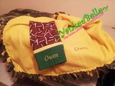 Fleece Blanket Green Bay Packer Style
