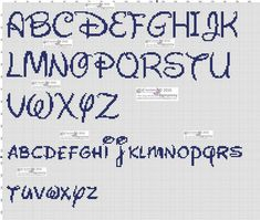 Darling Make Alphabet Friendship Bracelets Ideas. Wonderful Make Alphabet Friendship Bracelets Ideas. Embroidery Alphabet, Cross Stitch Alphabet, Hand Embroidery Patterns, Cross Stitching, Cross Stitch Embroidery, Cross Stitch Patterns, Alfabeto Disney, Plastic Canvas Letters, Disney Alphabet